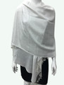 New!  Solid Color Metallic Pashmina White Dozen #8-5
