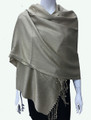 New!  Solid Color Metallic Pashmina Gold Dozen #8-7