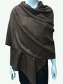 New!  Solid Color Metallic Pashmina Dark Brown Dozen #8-8