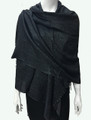 New!  Solid Color Metallic Pashmina Black Dozen #8-9