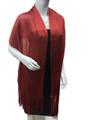 Women's glitter metallic shawl scarf  Red # 736-10