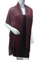 Women's glitter metallic shawl scarf  Burgundy # 736-6