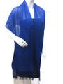women's glitter metallic shawl scarf  Royal Blue # 736-14