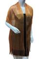 women's glitter metallic shawl scarf  Orange # 736-13