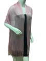women's glitter metallic shawl scarf  Pink # 736-12
