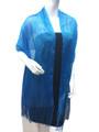 women's glitter metallic shawl scarf Turquoise  # 736-17
