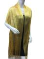women's glitter metallic shawl scarf  Yellow  # 736-16