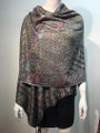 New! Pashmina  Metallic Black Dozen #1120-8