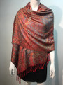 New! Pashmina  Metallic Red Dozen #1120-3
