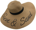 Womens Straw Hat Wide Brim Floppy Beach Cap  Assorted Dozen #8034