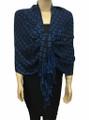 New! Pashmina Diamond Design Royal Blue / Navy Dozen #111-6