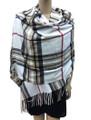 Cashmere Feel shawl  Scarves  White # 961-3