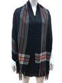 Cashmere Feel shawl  Scarves Black # 94-5