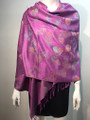 New!   Metallic  Butterfly   Pashmina  Purple Dozen #P120-1