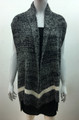 New !  Two Tone Knit Vest  Poncho Black # P209-2
