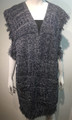 New !  Two Tone Knit Vest Poncho Navy # P210-3