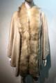 Elegant Women's - Faux Fur  Poncho Cape Beige # P203-1