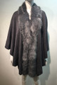 Elegant Women's - Faux Fur  Poncho Cape Gray # P203-3
