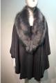 Elegant Women's - Faux Fur  Poncho Cape Gray # P204-4