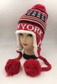 New York  Ear-Flap Knit Hats Assorted Dozen #H1213