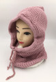 New! Soft Knit Pullover Hood Infinity Scarf Pink # 1568