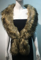Super Soft Faux Fur  Warm Scarf Beige  #S 81-4
