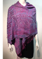 New! Pashmina  Multicolor Purple  Dozen #1022-06