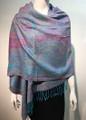 New! Pashmina  Multicolor Turquoise  Dozen #1022-04