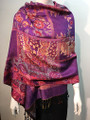 New! Pashmina  Purple / Red Dozen #154-1