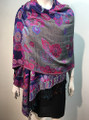 New! Pashmina  Royal Blue / hot Pink Dozen #155-1