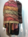 New!  Multicolor Paisley Pashmina  Coffee Dozen #160-2