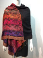 New!  Multicolor Paisley Pashmina  Red Dozen #160-5