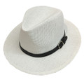 Fashion Summer Straw Hat white # H8025-2
