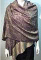 Pashmina Paisley purple / Beige  #50-20