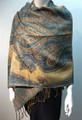 New!   Metallic Paisley Pashmina  Turquoise Dozen #S166-3