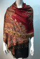 New!   Metallic Paisley Pashmina  Red Dozen # S167-4