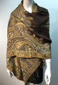 New!   Metallic Paisley Pashmina  Coffee Dozen #  S167-5