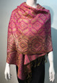 New!   Metallic Pashmina  Hot Pink Dozen # S168-4