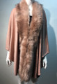 New! Elegant Women's - Faux Fur  Poncho Cape Pink # P203-7