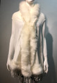New! Elegant Women's - Faux Fur  Poncho Hooded Cape White # P205-5