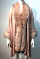 New! Elegant Women's - Faux Fur  Poncho Cape Pink # P218-7