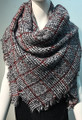 Womens Blanket Scarf Winter Soft  Wrap Shawl  Black # S 979-1