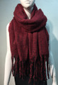 New!  Shawl Scarf Burgundy  # 971-2