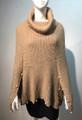 New ! Ladies' Stylish  Poncho Beige # P225-1