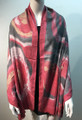 New ! Large Soft Tie-dye Cashmere Feel Scarf  burgundy # 965-1