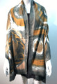 New ! Large Soft Tie-dye Cashmere Feel Scarf  Olive # 965-2