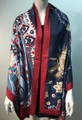 New ! Large Soft  Paisley Cashmere Feel Scarf  Navy # 966-3