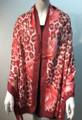 New ! Large Soft  Leopard Cashmere Feel Scarf  Burgundy # 968-2