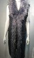 New! Elegant Women's - Faux Fur  Poncho Cape Gray # P219-2