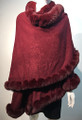 New! Elegant Women's - Faux Fur  Poncho Cape burgundy # P220-2